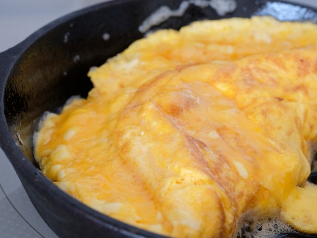 An omlette is a great source of slow release protein for runners