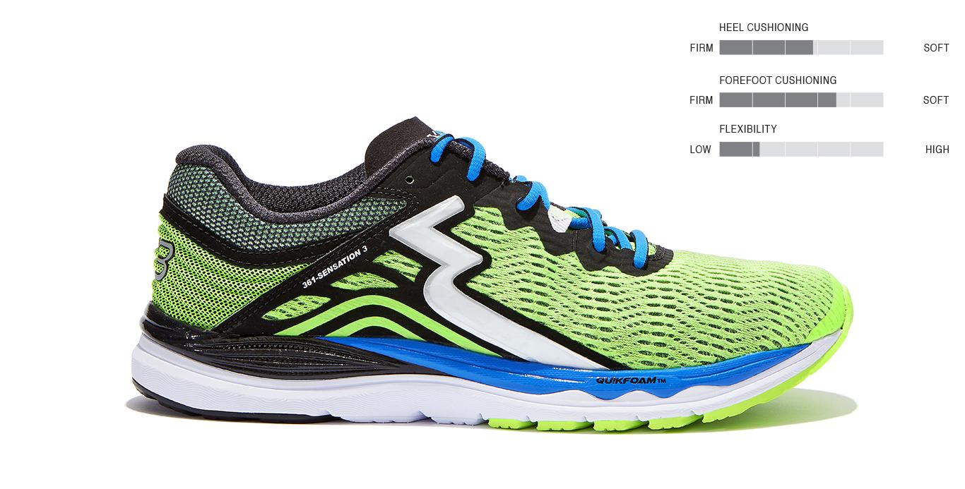 best running shoes 2018 - 361 Degree sensation 3