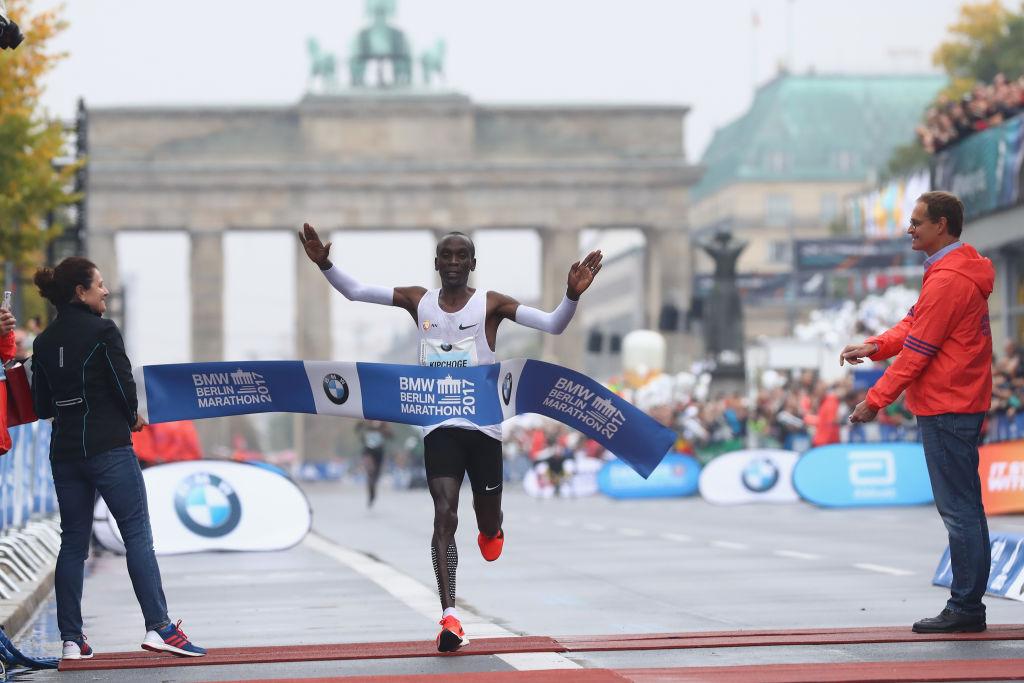 Eliod Kipchoge Running Berlin Marathon