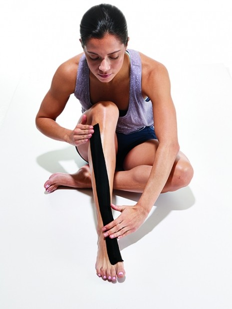 how to tape your legs to run with shin splints