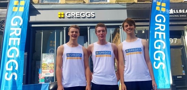 Three students are running round every Greggs in Newcastle