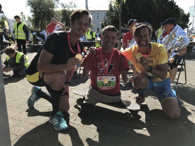 Man born without arms and legs just finished sixth marathon