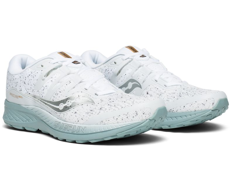 Saucony Ride ISO white noise running shoes