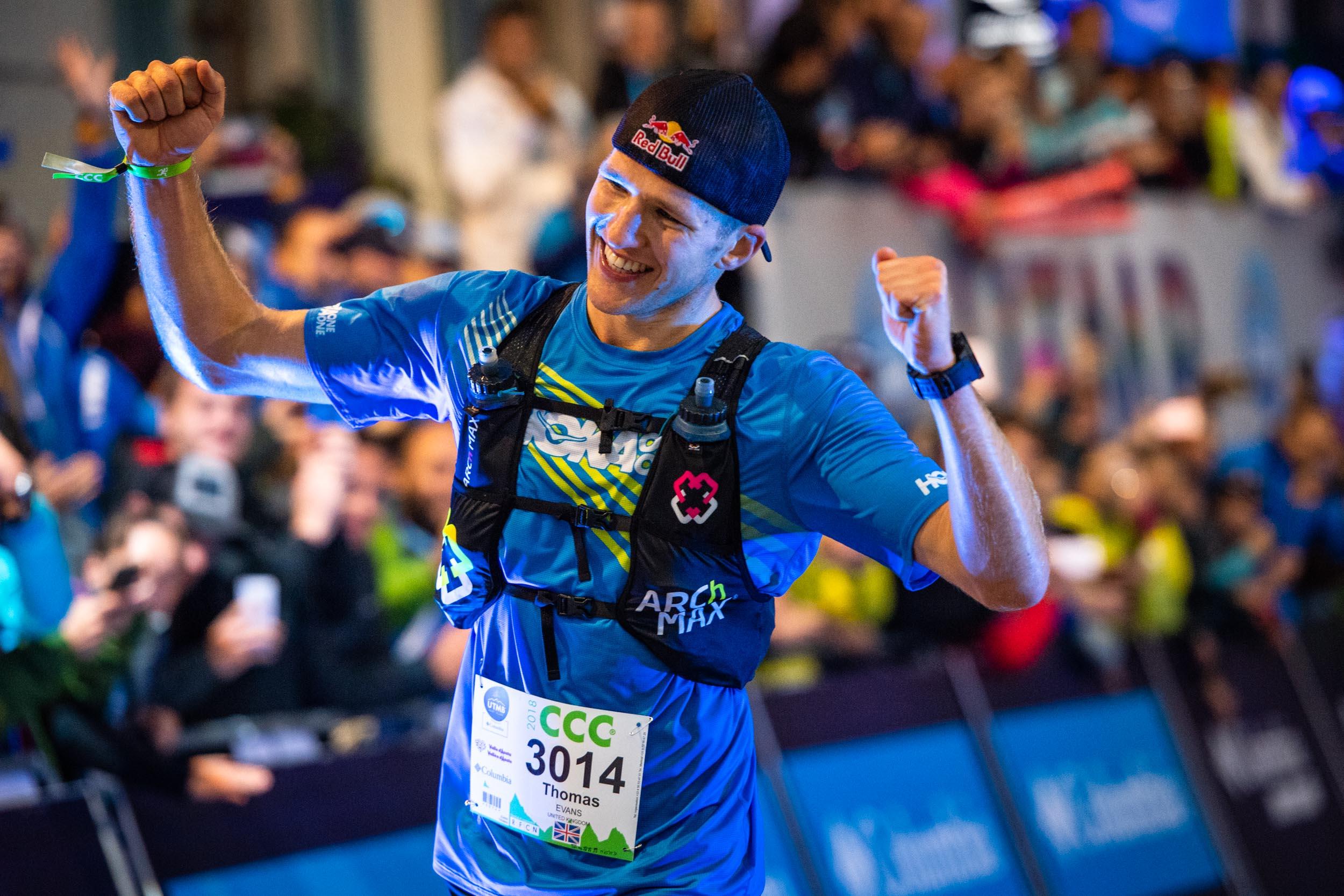 ultra runner Tom Evans wins the 2018 CCC