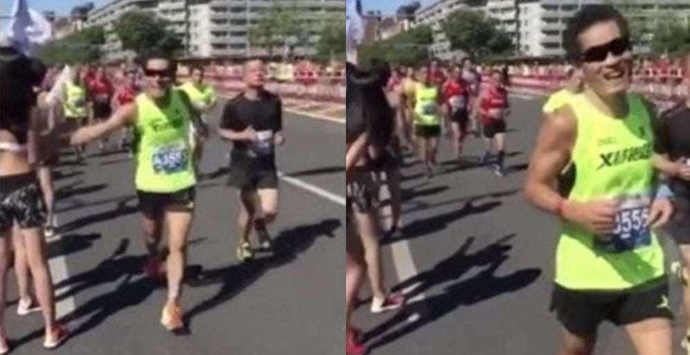 runner investigated for sexual harrassment beijing marathon
