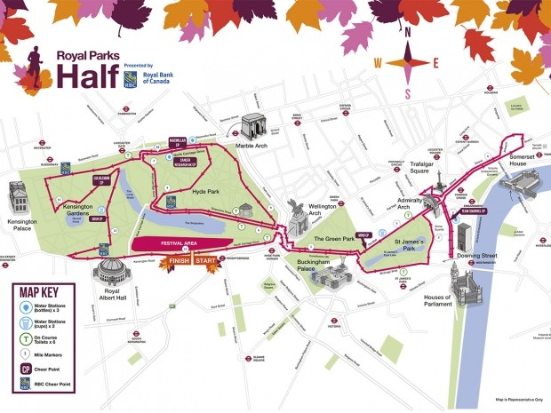 what is the route for the royal parks half marathon