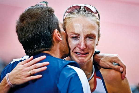 why do people cry during marathons