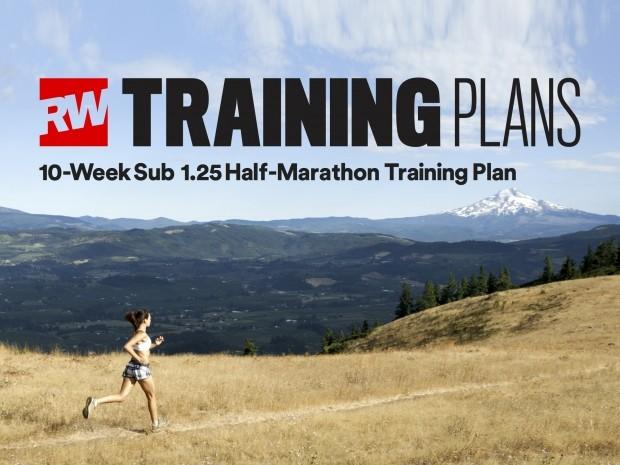 10 week sub 1.25 half marathon training plan