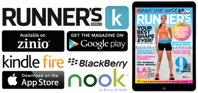 Runner's World digital editions download from itunes, google play, nook, zinio, kindle, blackberry