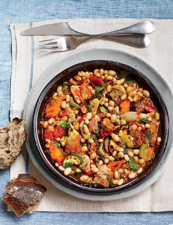gourmet vegetarian cassoulet recipe - 600×779