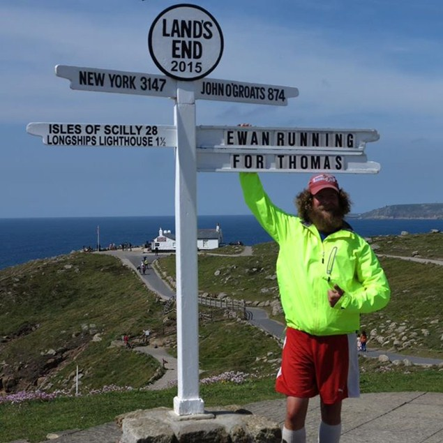 Image: Running for Thomas Laurie John O'Groats to Lands End 2015 Facebook page