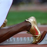 Michael Johnson's gold spikes