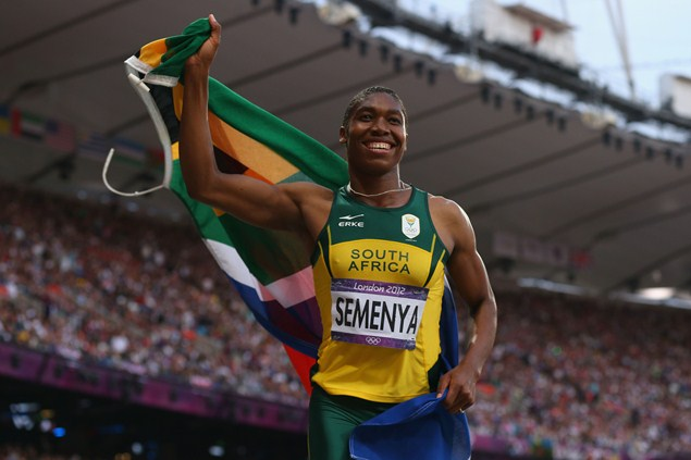 Caster Semenya of South Africa was temporarily barred from competing after she won the world 800-metre title in 2009.