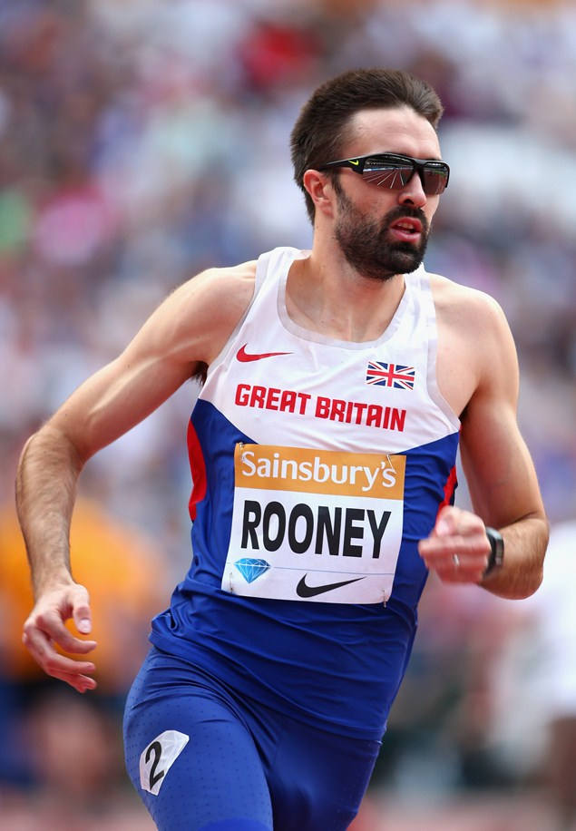 Rooney competing in the Mens 400m at the Sainsbury's Anniversary Games 2015. Photo credit: Getty Images