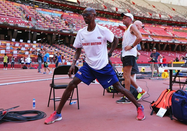 Mo Farah in Beijing / Getty Images