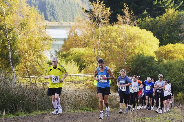 Runners tackle one of the many hills at the inaugural Kielder Marathon