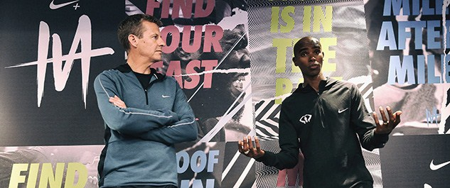 Steve Cram and Mo Farah