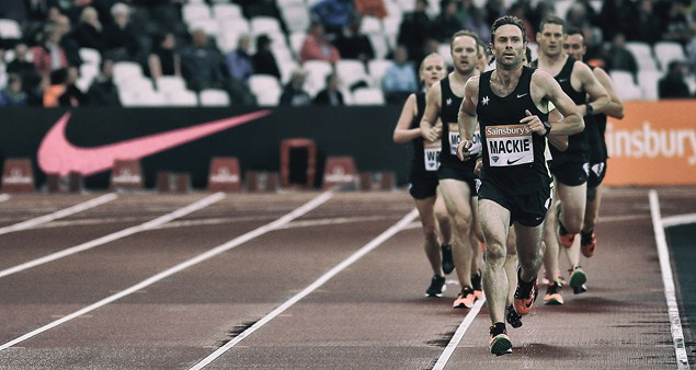 Joe Mackie breaks for the line at the Anniversary Games