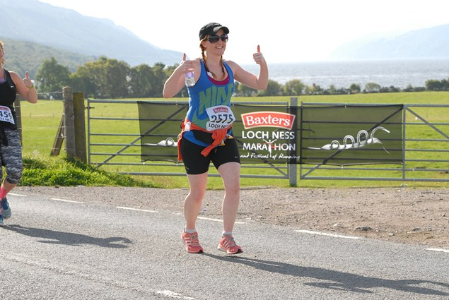 Thumbs up for the Baxters Loch Ness Marathon