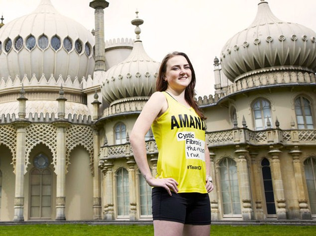 After a double lung transplant, Amanda decided she had no excuse not to take on a marathon. Photo: Ben Knight