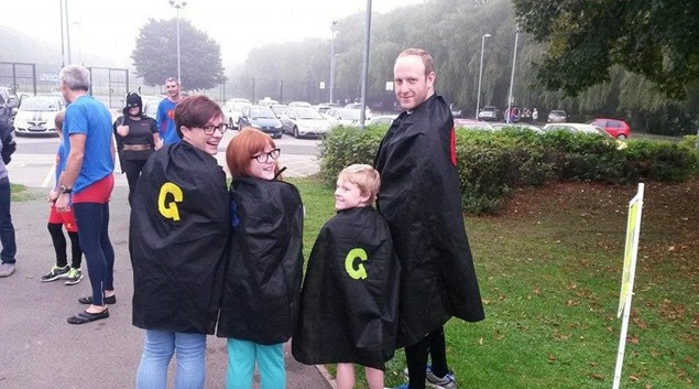 The Gardiner family embrace parkrun volunteering.