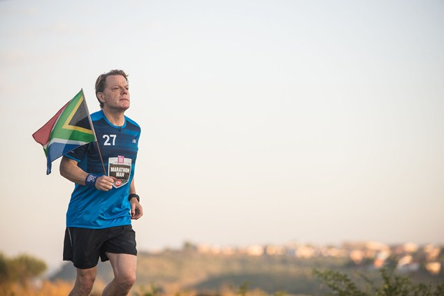 Eddie Izzard running from Mortimer to Cradock in South Africa.