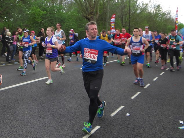 Our very own John Carroll took on the Virgin Money London Marathon. Photo by David Rothon