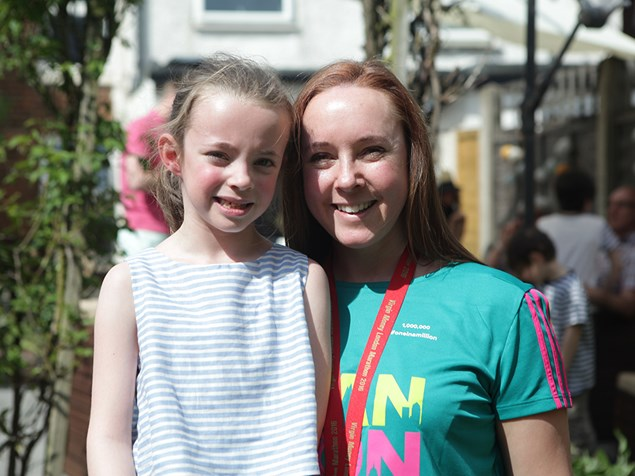 London Marathon's millionth finisher Shannon Foudy, pictured with her now 6-year-old daughter Catrin. Photo by Virgin Money London Marathon