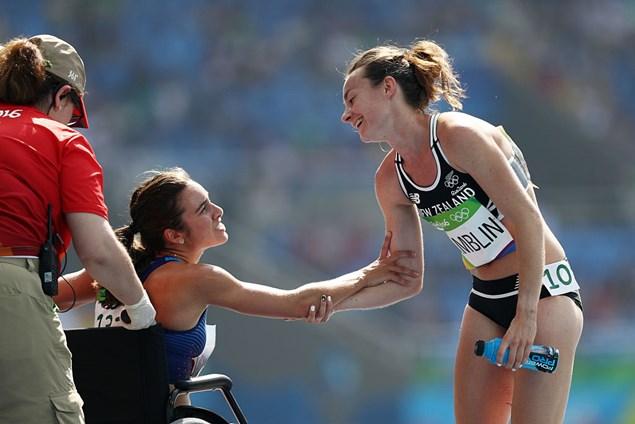 Hamblin and D'Agostino at Rio 2016. Pic - Getty Images