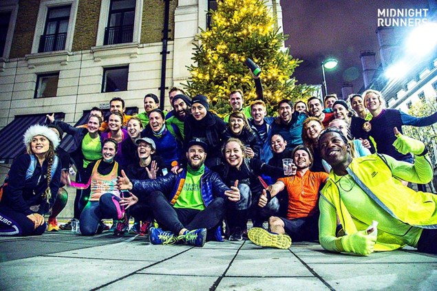 The London Midnight Runners team at last year's Midnight-to-Midnight.