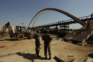 The Indian army were drafted in to rebuild the collapsed bridge