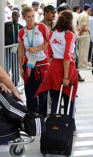 Team England arrives in Delhi