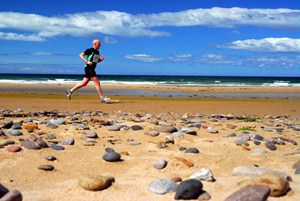 Run along the sands at the Mull of Kintyre Half-Marathon