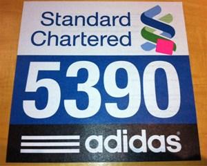 Thursday's 5K 'test' race number.