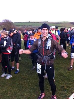Jamie at the start of the race: innocence is bliss!