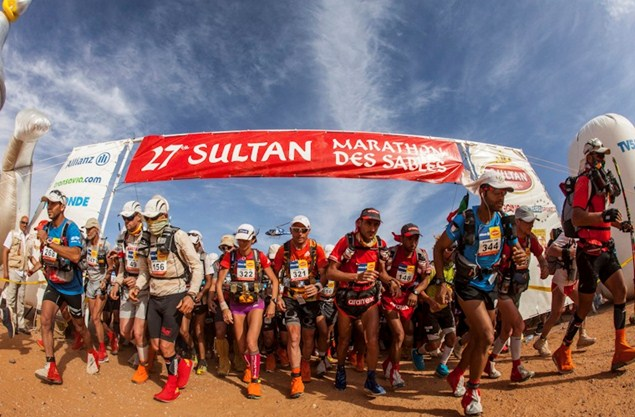 The start of today's third stage of the Marathon des Sables (c) Cimbaly/SAULEM-MDS2012