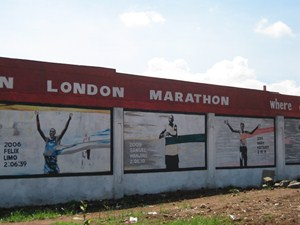 The London Marathon Wall of Champions in Eldoret