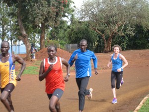 Trying to keep up with the Kenyans