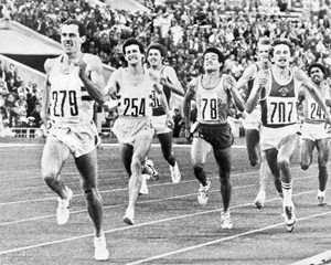 Britain's Steve Ovett claims the 800m gold medal in Moscow (credit: Keystone/Hulton Archive/Getty Images)