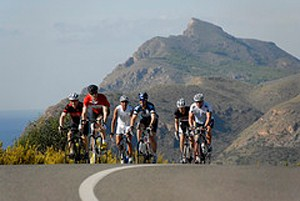 Murcia's quiet roads are perfect for group training rides