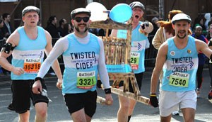 The Twisted Cider team raised over £3,000 for Cancer Research UK at the Bath Half Marathon
